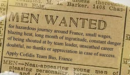 Stage 16: Wanted. Men brave enough to serve as CofidisDomestiques